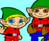 Christmas Elves Coloring