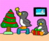 Penguins Christmas Eve